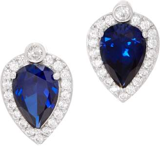 Diamonique Royal Collection Pear Cut Earrings, Sterl