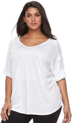 Laundry by Shelli Segal Plus Size French Mesh Top