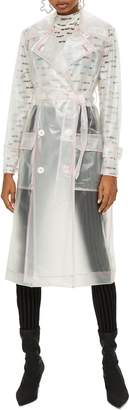 Topshop Frosted Vinyl Mac Trench Coat