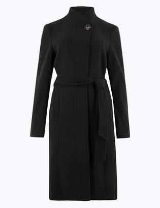 M&S CollectionMarks and Spencer CURVE Belted Wrap Coat