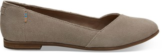 Toms Taupe Suede Julie Women's Flats