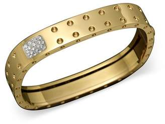 Roberto Coin 18K Yellow Gold Pois Moi Double Row Diamond Bangle