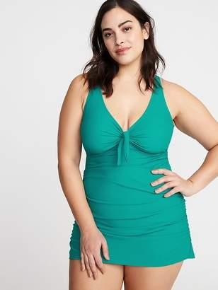 Old Navy Tie-Front Secret-Slim Plus-Size Swim Dress