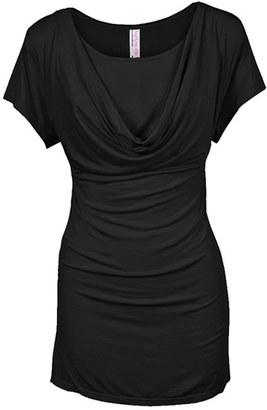 Women's Nurture-Elle Cowl Neck Short Sleeve Nursing Top $49 thestylecure.com