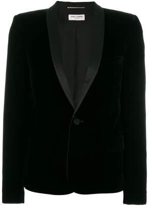 Saint Laurent tuxedo jacket with square-cut shoulders