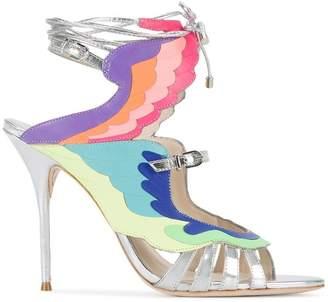 Sophia Webster fire bird metallic sandals
