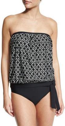 Athena Geo Oasis Callia Bandini Swim Top, Black $68 thestylecure.com