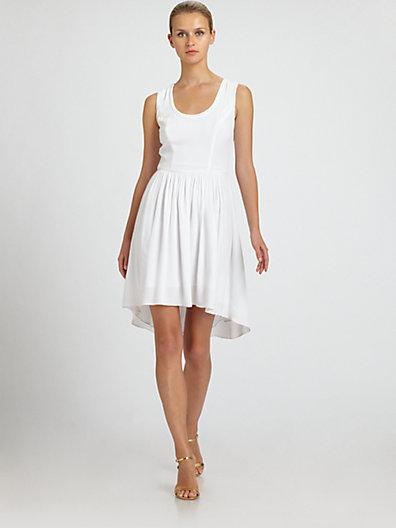 Nicole Miller Sheer-Back Dress
