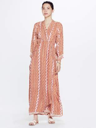 Natalie Martin Nico Long Sleeve Maxi Dress - New Rust