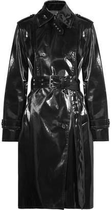 Coated-shell Trench Coat - Black