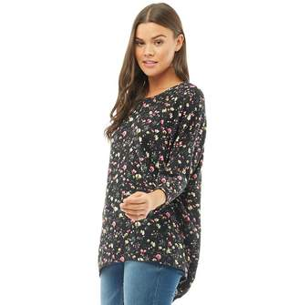 Jacqueline De Yong Womens New Winner 3/4 Sleeve Top Black/Svan
