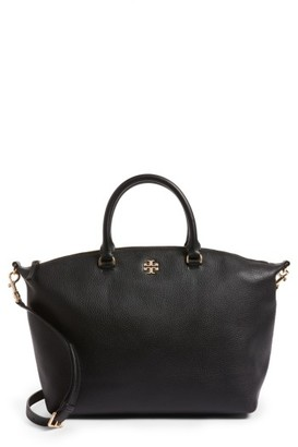 Tory Burch Frida Leather Satchel - Black $498 thestylecure.com