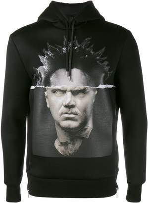 Neil Barrett Modernist Blocking hooded sweatshirt