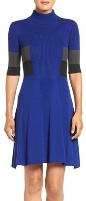 Women's Adrianna Papell Colorblock Fit & Flare Dress $120 thestylecure.com