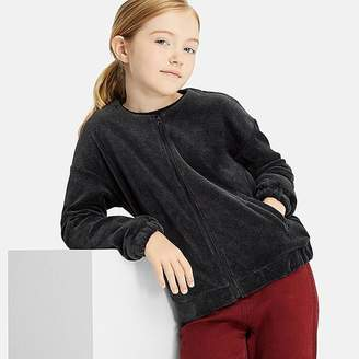 Uniqlo Girl's Velour Collarless Jacket