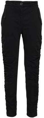 Robert Rodriguez Ruched Cotton-blend Twill Slim-leg Pants