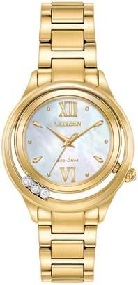 Citizen Women's Eco-Drive L Sunrise LS Diamond Accented Bracelet Watch, 33mm - 0.015 ctw