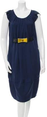 Valentino Silk Belted Dress w/ Tags