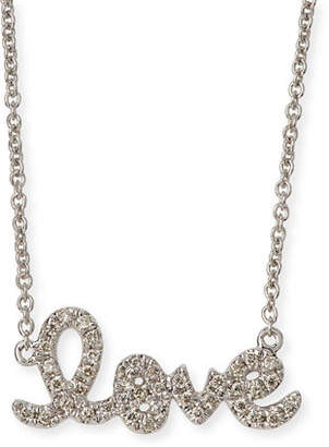 Sydney Evan Gold Diamond Love Necklace, Small