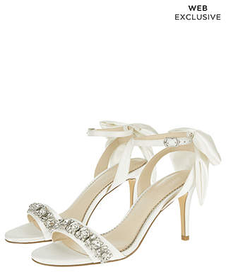 Monsoon Dolly Diamante Trim Sandals With Bows