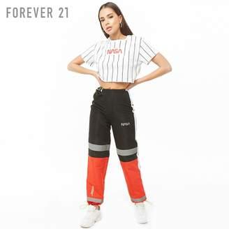 Forever 21 (フォーエバー 21) - Forever 21 NASAストライプクロップドトップ