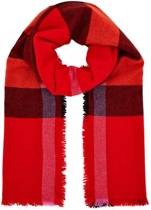 Burberry Check Wool-Cashmere Scarf
