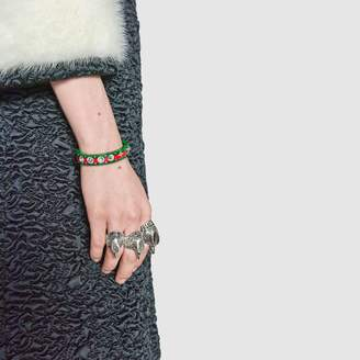 Gucci Web cuff with crystals