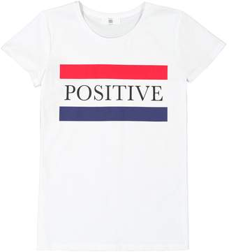La Redoute COLLECTIONS Positive Print Crew Neck T-Shirt, 10-16 Years