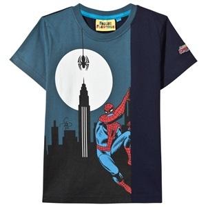 Fabric Flavours Navy Spiderman Glow-in-the-Dark Print Tee
