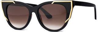 Thierry Lasry Butterscotchy Cat-Eye Sunglasses, Black/Gold