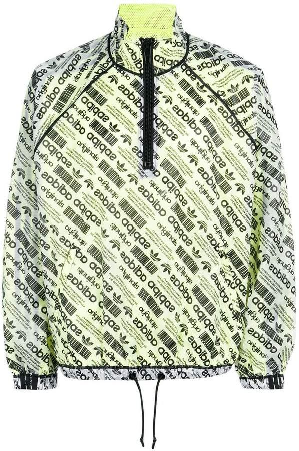 Adidas Originals By Alexander Wang logo-print windbreaker