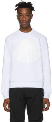 Moncler White Logo Patch Sweatshirt