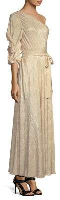 Alice + Olivia Jeanie One-Shoulder Maxi Dress