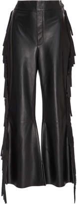 Ellery Tomahawk Fringed Leather Pant