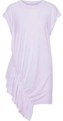 Current/Elliott The Pacific Ave Ruffled Linen And Cotton-blend Jersey Mini Dress