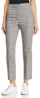 Milly Plaid Wool Cropped Pants
