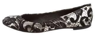 Giuseppe Zanotti Metallic Lace Flats