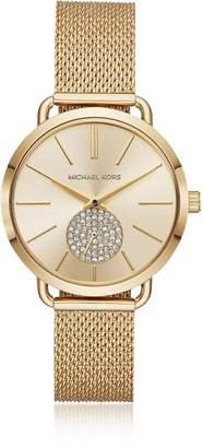 Michael Kors Portia Mesh Gold Tone Watch