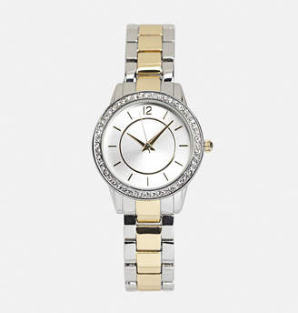 Avenue Two Tone Metal Link Watch
