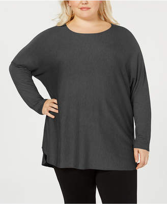 INC International Concepts I.n.c. Plus Size Long-Sleeve High-Low Sweater