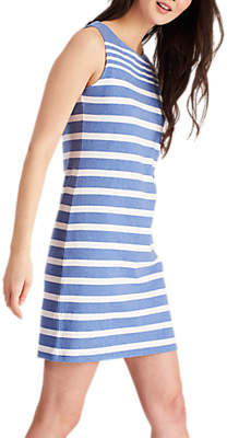 Joules Riva Sleeveless Jersey Dress, Chambray Stripe