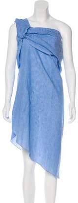 Baja East One-Shoulder Midi Dress