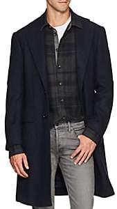 Ring Jacket Men's Basket-Weave Wool Jacket - Blue