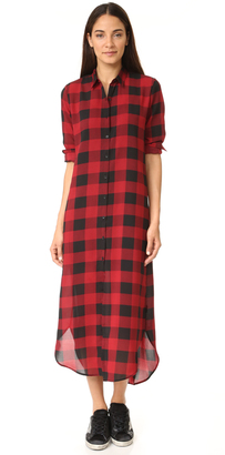 BB Dakota Dunkirk Buffalo Plaid Shirtdress $115 thestylecure.com