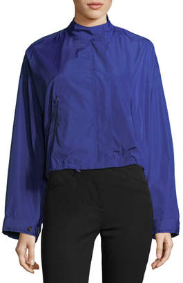 3.1 Phillip Lim Technical Zip-Front Crop Anorak Jacket