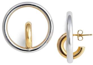 Charlotte Chesnais Saturn Blow Medium Hoop Earrings