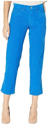 Lucky Brand Mid-Rise Authentic Straight Crop Jeans in Vintage Princess Blue