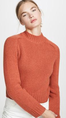 Vince Cashmere Shrunken Mock Neck Sweater