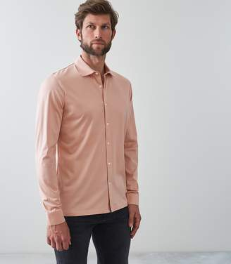 Reiss Our last order date for Christmas has now passed CHAPTER MERCERISED COTTON SHIRT Pink