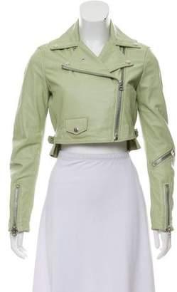Acne Studios Leather Crop Jacket